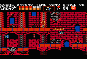 On Stage 5 of Level 2, a perfectly-timed jump and bump by the Medusa Head can create a shortcut in Castlevania.