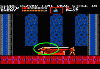 Censorship concerns of Castlevania - Notice the prominent cross on this coffin.