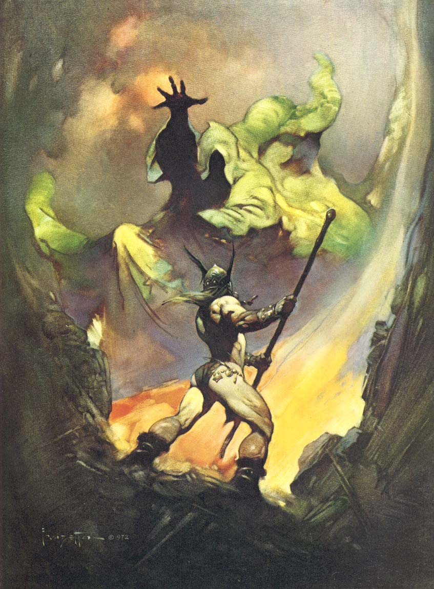 The box art of Castlevania is modeled after The Norseman (1972) by Frank Frazetta.