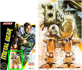 Metal Gear as pictured on Metal Gear box art front cover