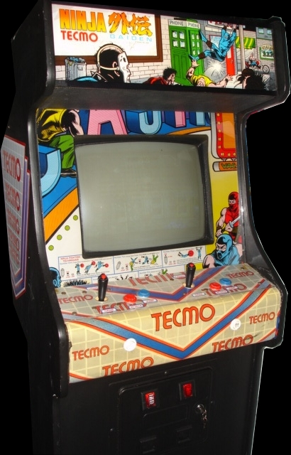 Picture of an arcade cabinet of Ninja Gaiden.
