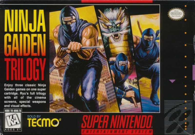 Picture of Ninja Gaiden Trilogy on the SNES.