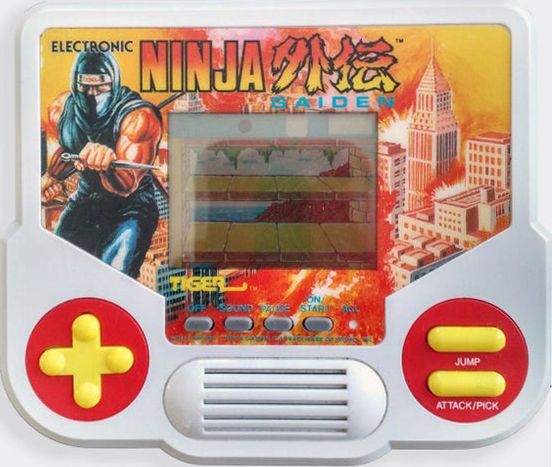 Ninja Gaiden was converted into a Tiger Electronics LCD Handheld, loosely-based off of the NES title.