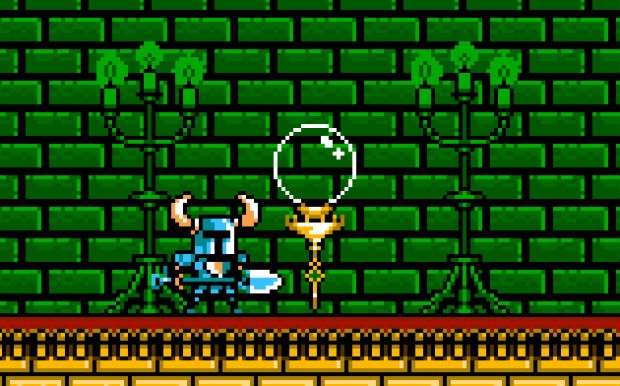 Shovel Knight gets between 4 and 6 checkpoints per stage to save his progress.
