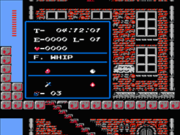 Screenshot of unique Simon's Quest Password - CHIT CHIP SPEW BEAM.