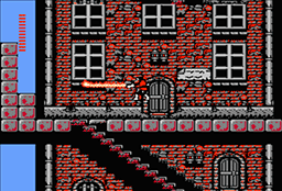 Screenshot of beginning of Simon's Quest game with Flame Whip.