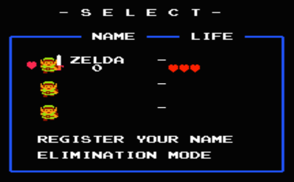 Enter ZELDA as your name on The Legend Of Zelda to begin the Second Quest.