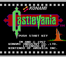 Castlevania Title Screen