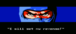 Ninja Gaiden - Close-Up of Eyes - I Will Get My Revenge